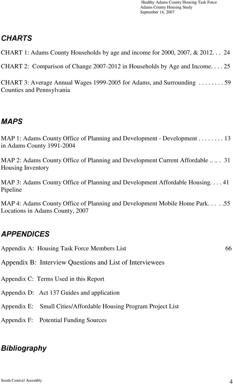 ....... 13 in Adams County 1991-2004 MAP 2: Adams County Office of Planning and Development Current Affordable.
