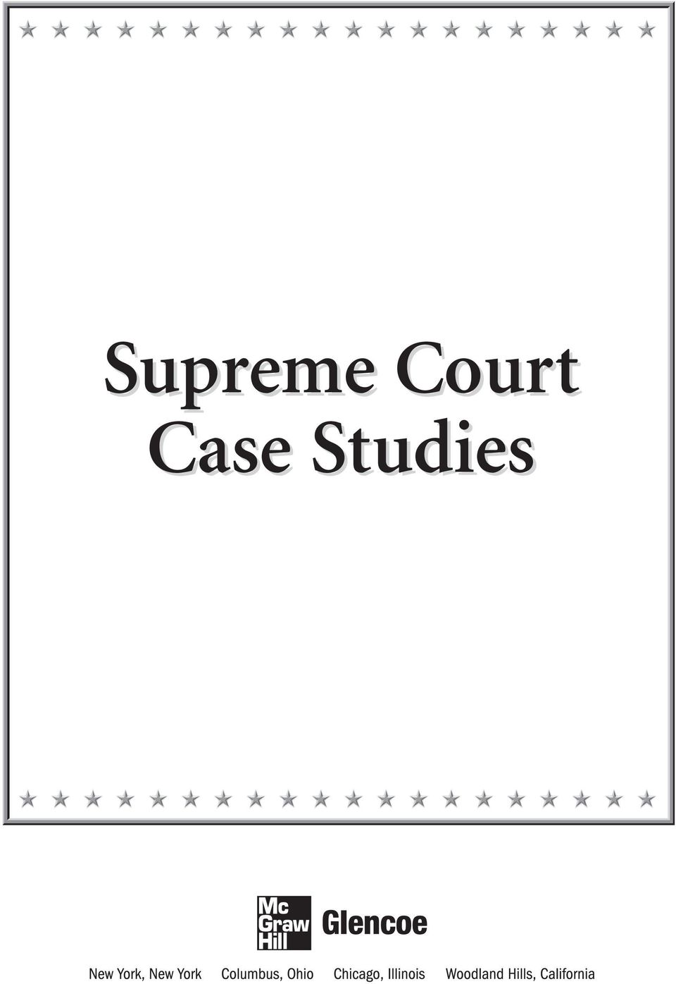 Supreme Court Case Studies PDF Page   Supreme Court Case Studies