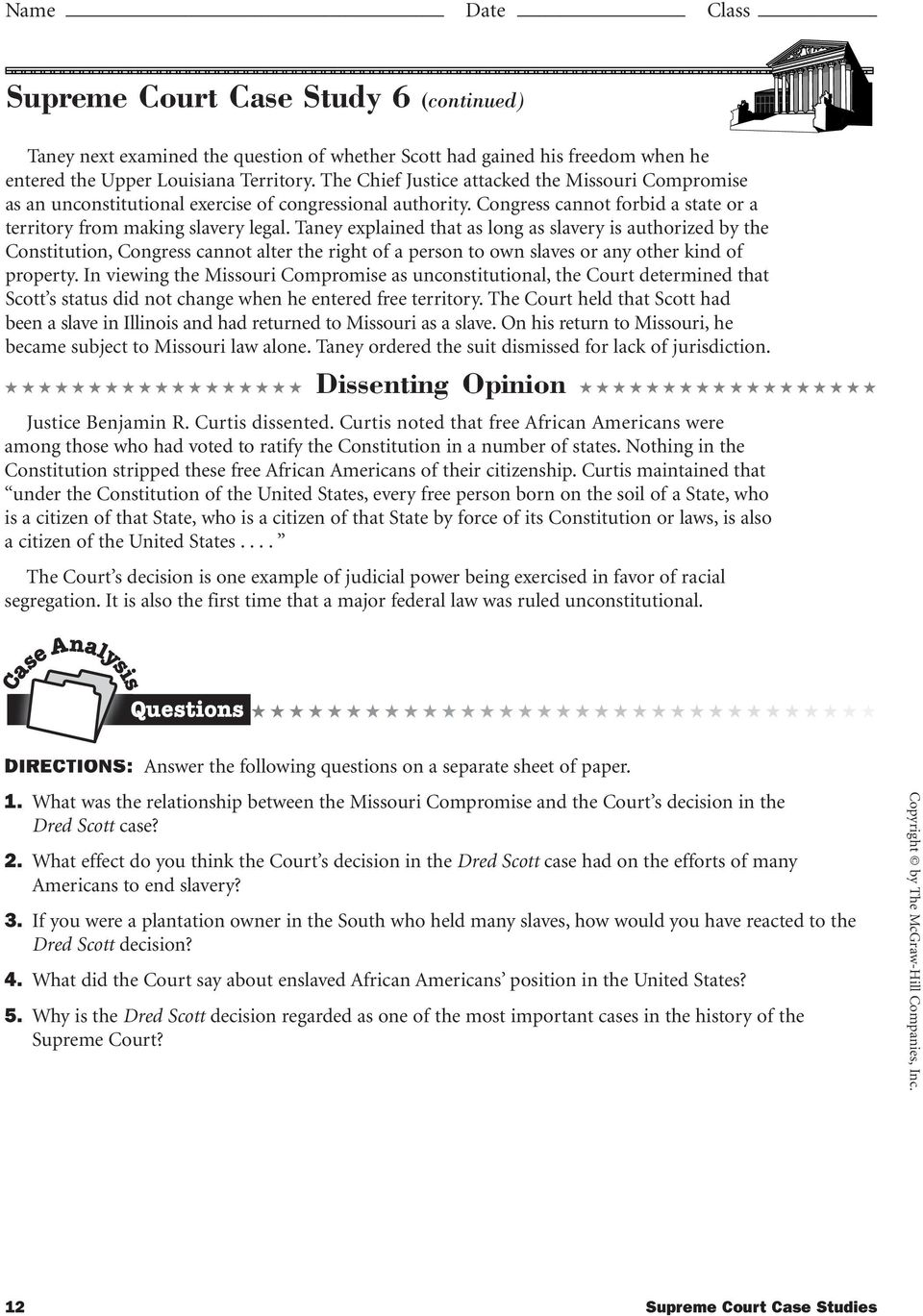 Supreme Court Cases Essay Page  Supreme Court Cases Essay