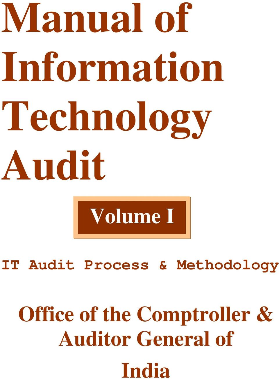 information technology audit Information technology audit general principles introductory as computer technology has advanced, government organisations have become increasingly dependent on computerised information systems to carry out their operations and to process, maintain, and report essential information as a consequence, the reliability of computerised data.