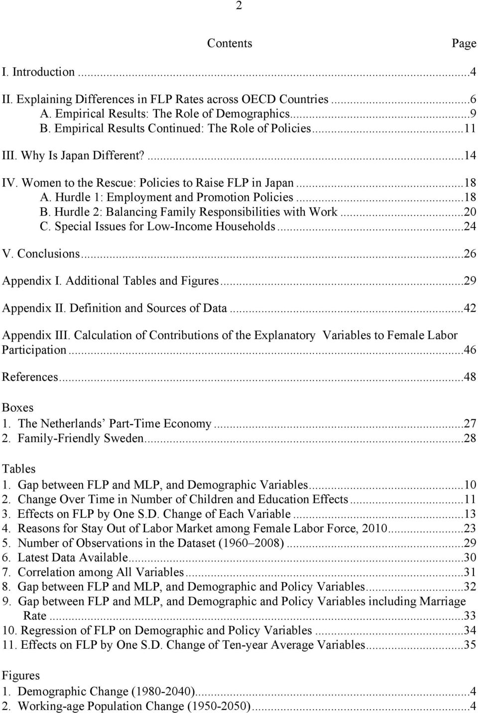 ..18 B. Hurdle 2: Balancing Family Responsibilities with Work...2 C. Special Issues for Low-Income Households...24 V. Conclusions...26 Appendix I. Additional Tables and Figures...29 Appendix II.