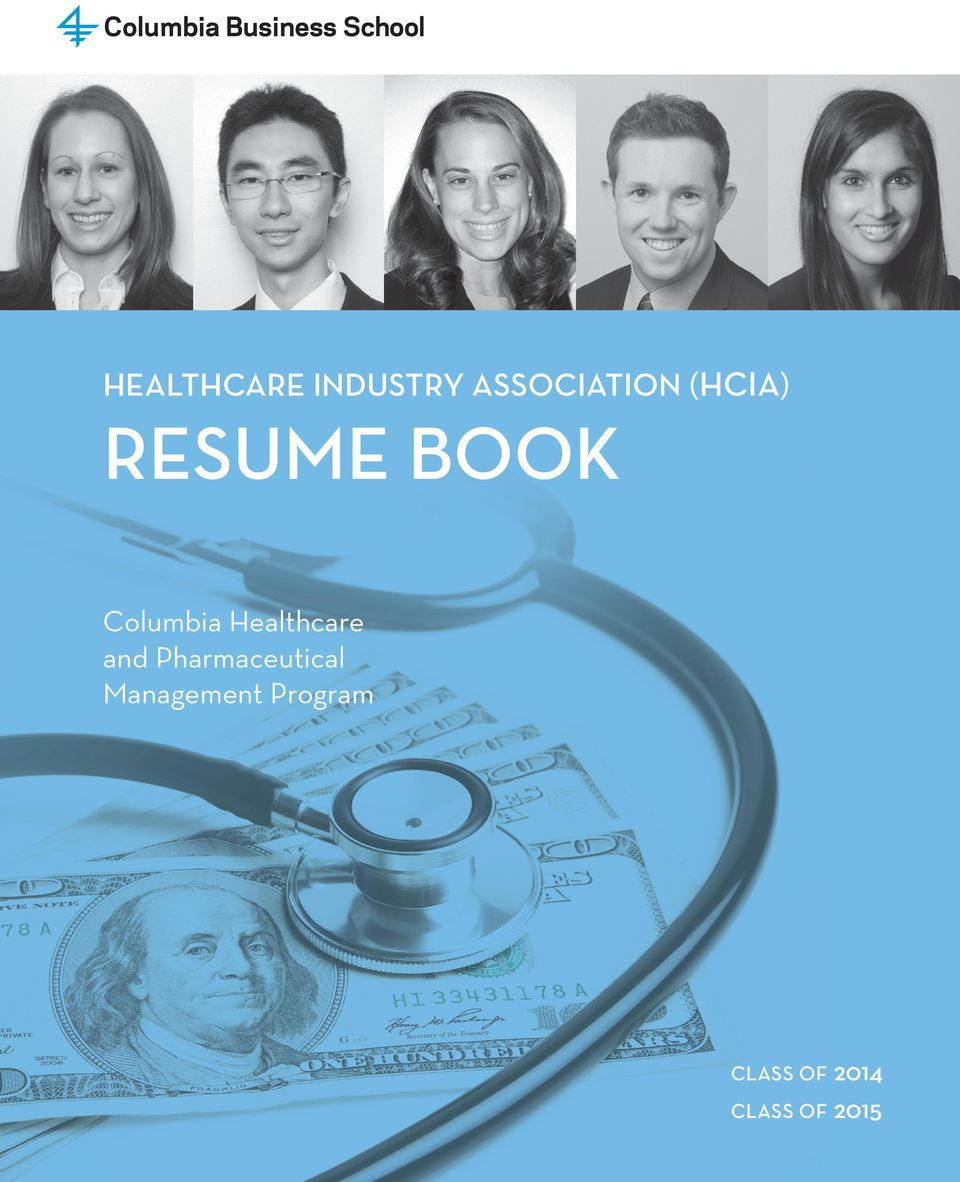 resume book columbia healthcare and pharmaceutical
