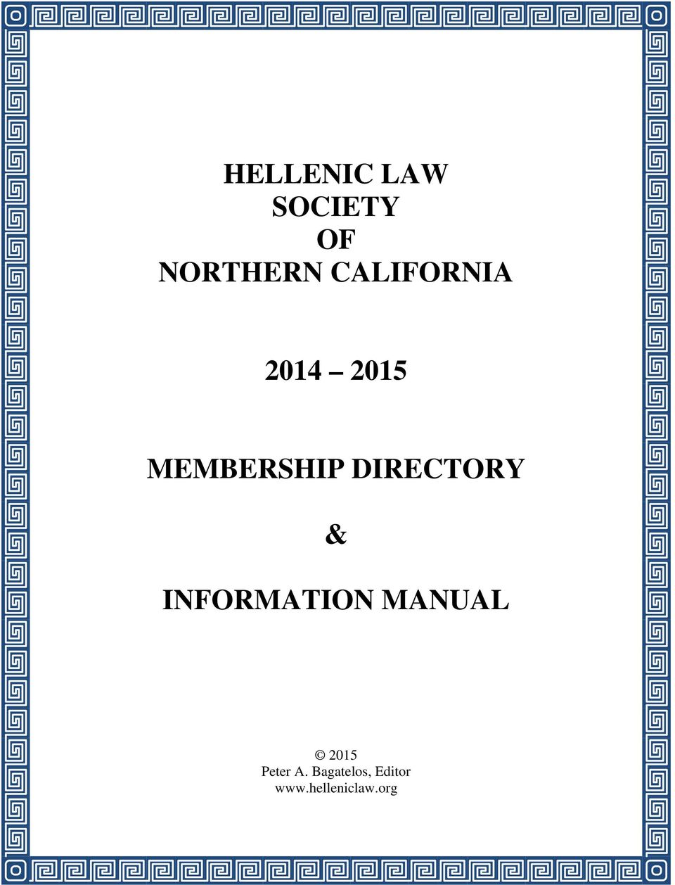 DIRECTORY & INFORMATION MANUAL 2015