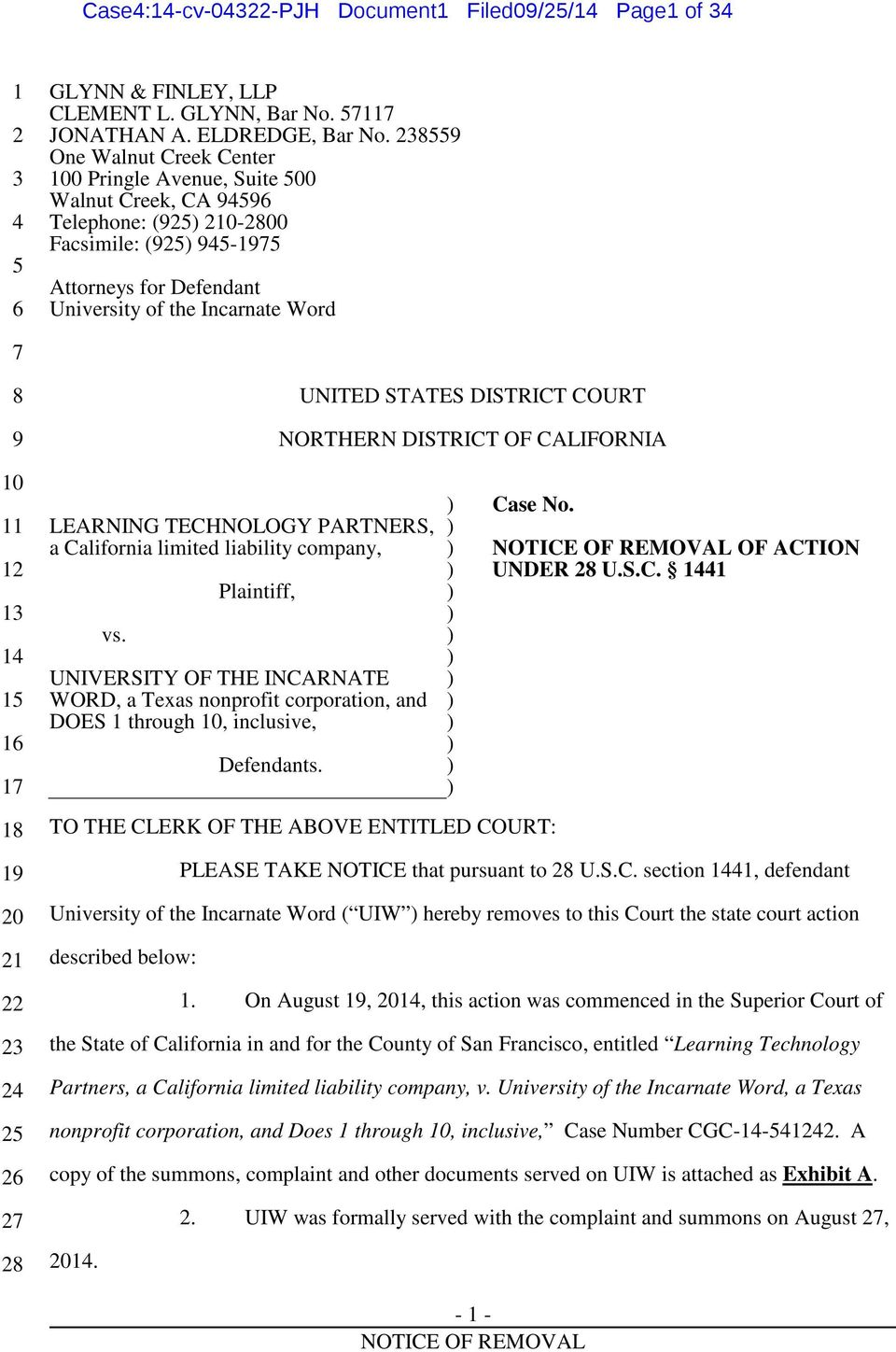10 11 12 13 14 15 16 17 18 19 20 21 22 23 24 25 26 27 28 LEARNING TECHNOLOGY PARTNERS, a California limited liability company, vs.