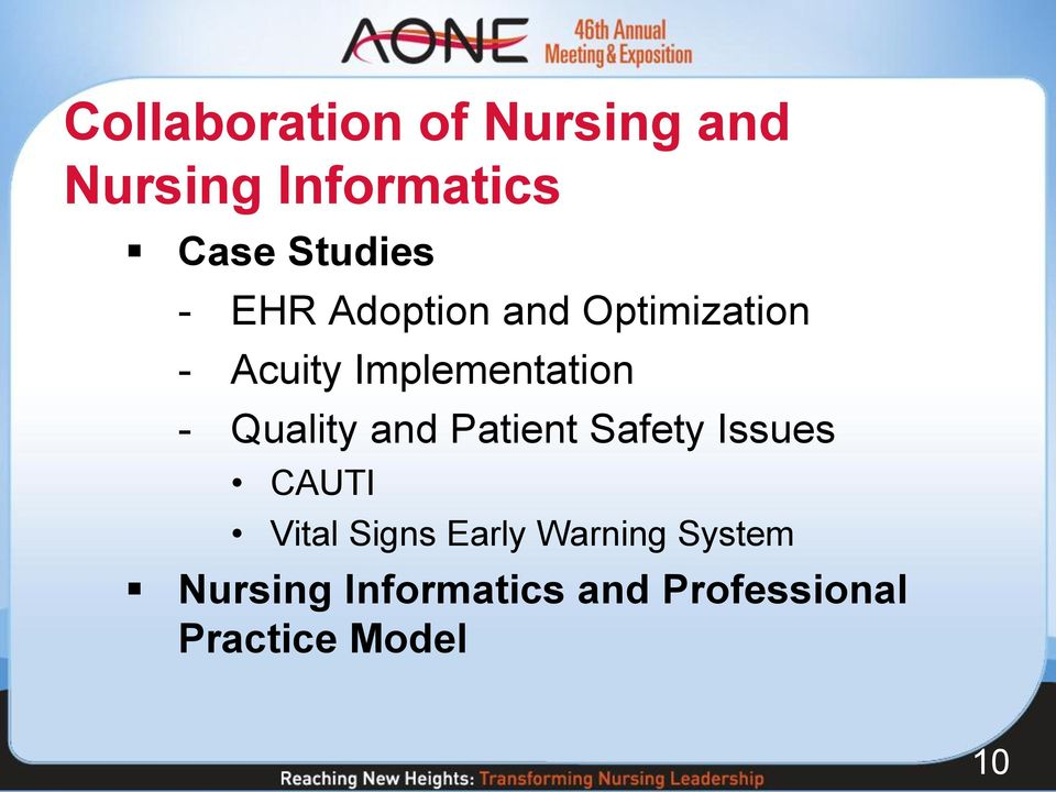 Quality and Patient Safety Issues CAUTI Vital Signs Early