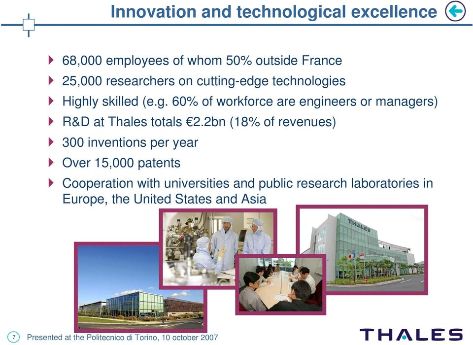2bn (18% of revenues) 300 inventions per year Over 15,000 patents Cooperation with universities