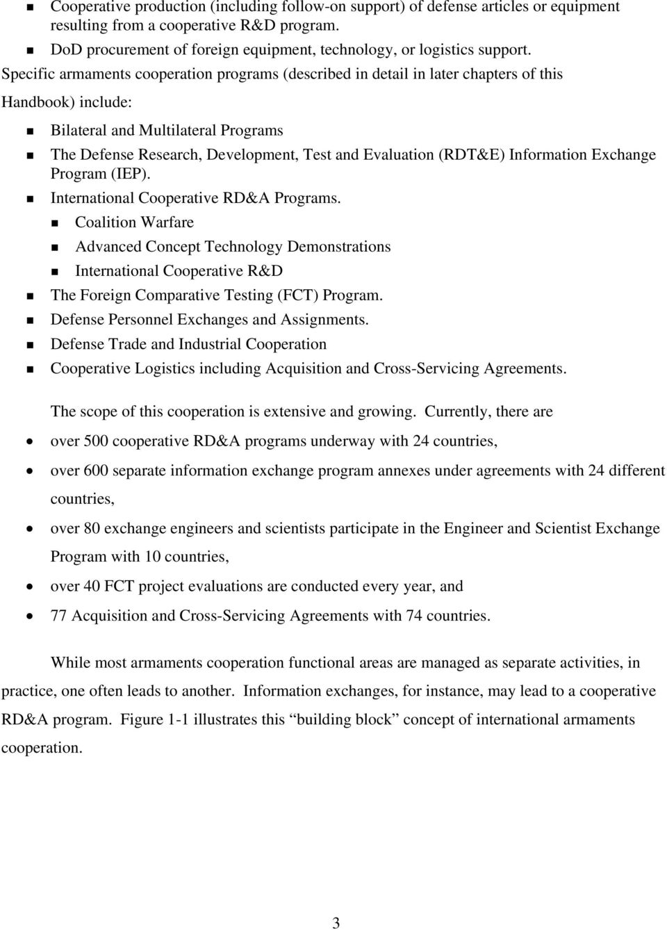 (RDT&E) Information Exchange Program (IEP). International Cooperative RD&A Programs.