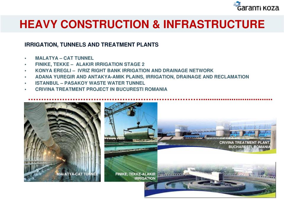 ANTAKYA-AMIK PLAINS, IRRIGATION, DRAINAGE AND RECLAMATION ISTANBUL PASAKOY WASTE WATER TUNNEL CRIVINA TREATMENT