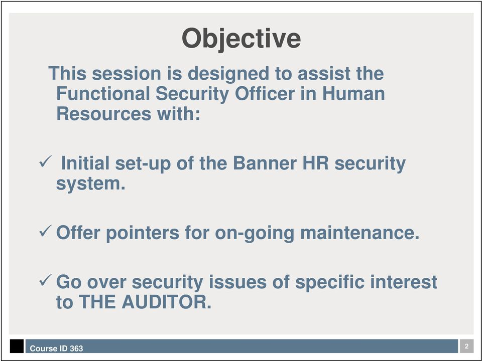 Banner HR security system.