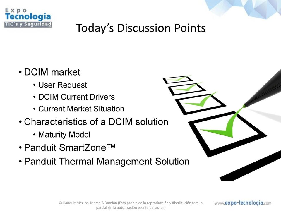 Situation Characteristics of a DCIM solution