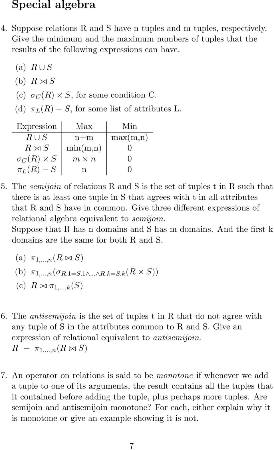 relational algebra queries examples with solutions pdf