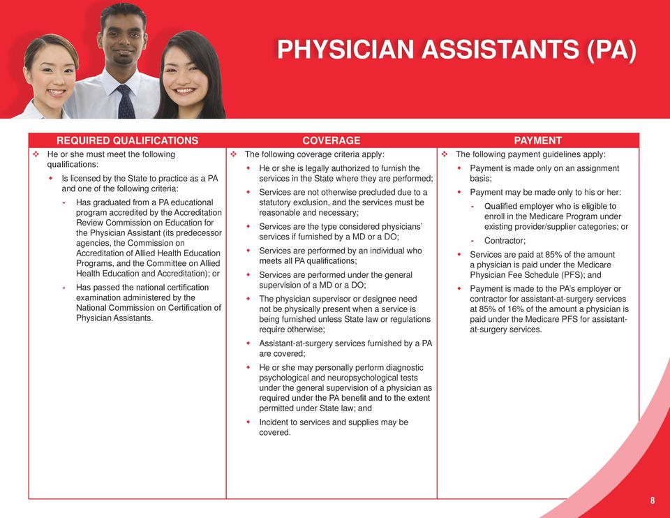 Physician Assistant (its predecessor agencies, the Commission on Accreditation of Allied Health Education Programs, and the Committee on Allied Health Education and Accreditation); or Has passed the