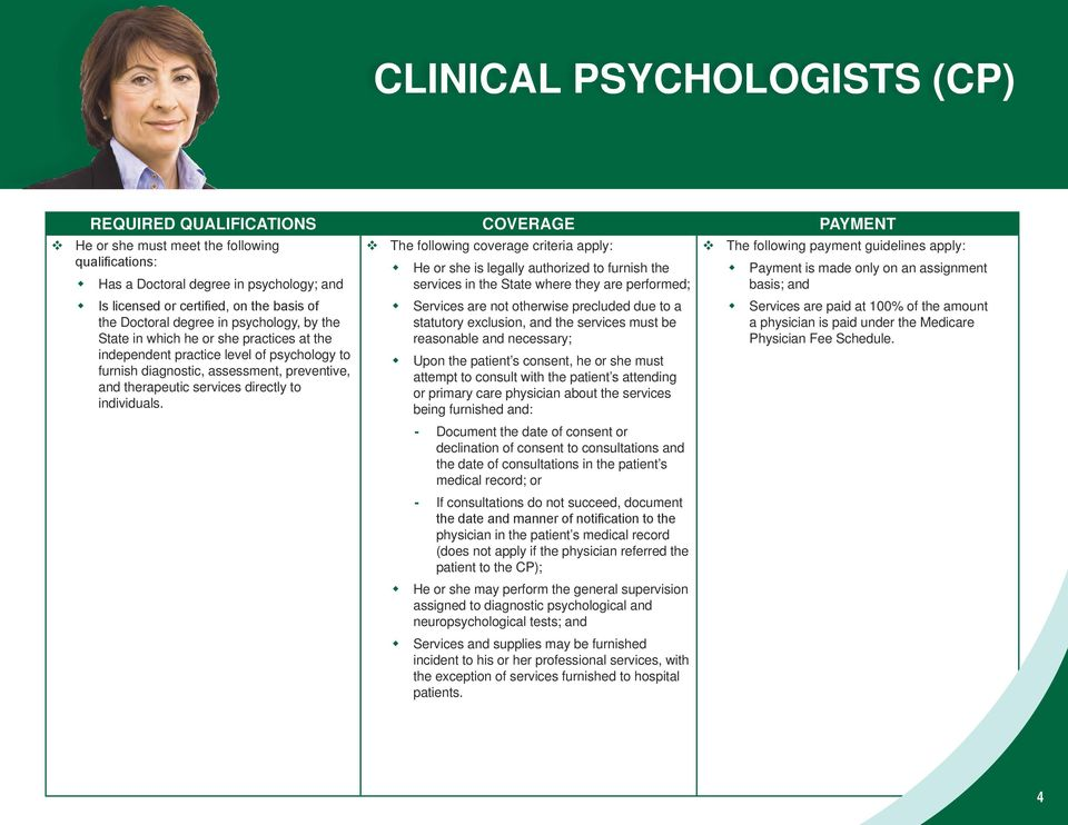 psychology to furnish diagnostic, assessment, preventive, and therapeutic services directly to individuals.