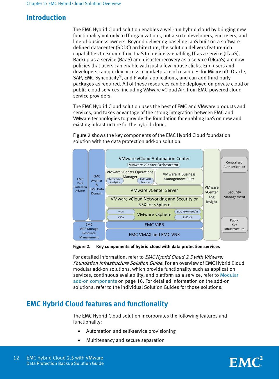 Beyond delivering baseline IaaS built on a softwaredefined datacenter (SDDC) architecture, the solution delivers feature-rich capabilities to expand from IaaS to business-enabling IT as a service
