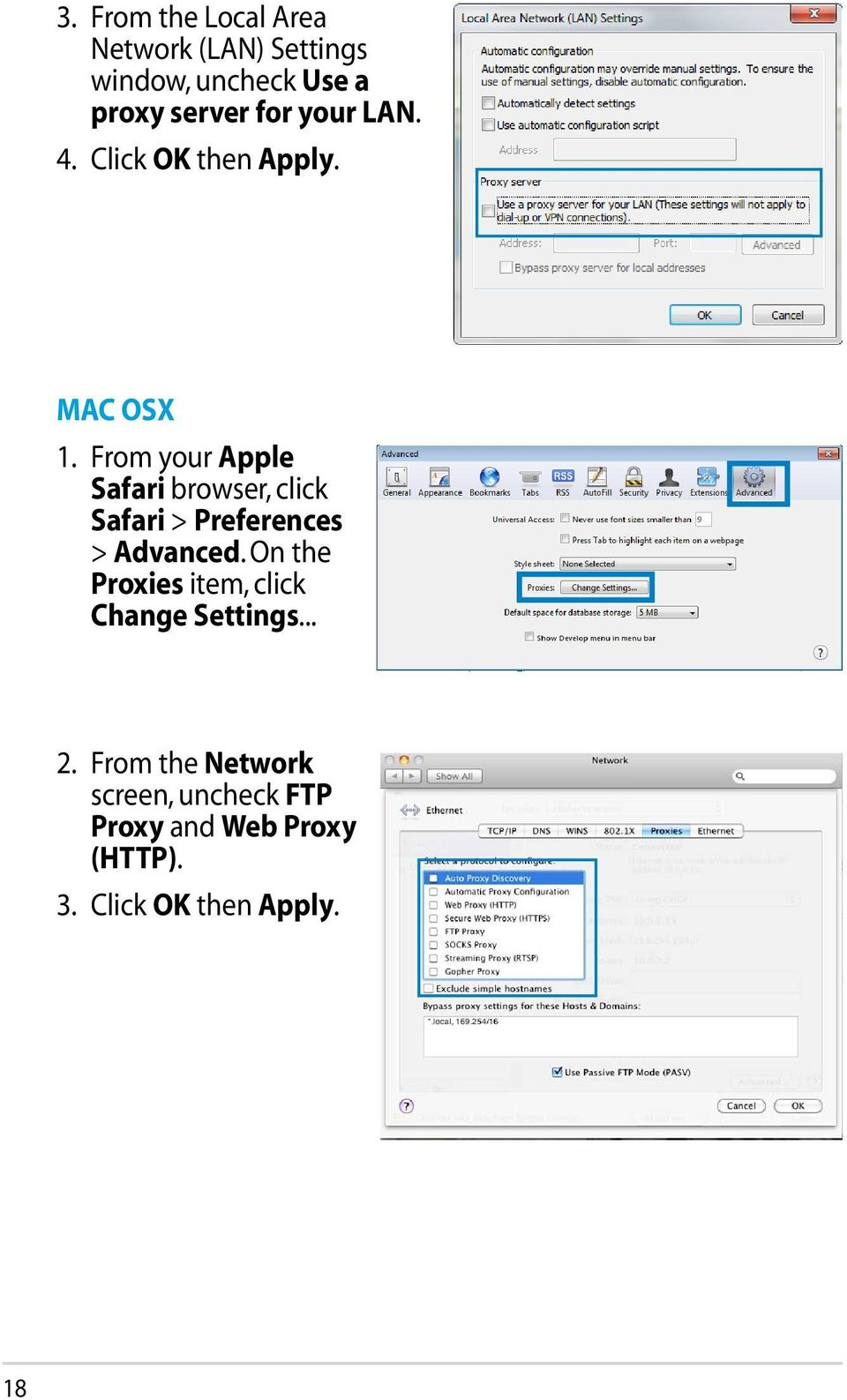 From your Apple Safari browser, click Safari > Preferences > Advanced.