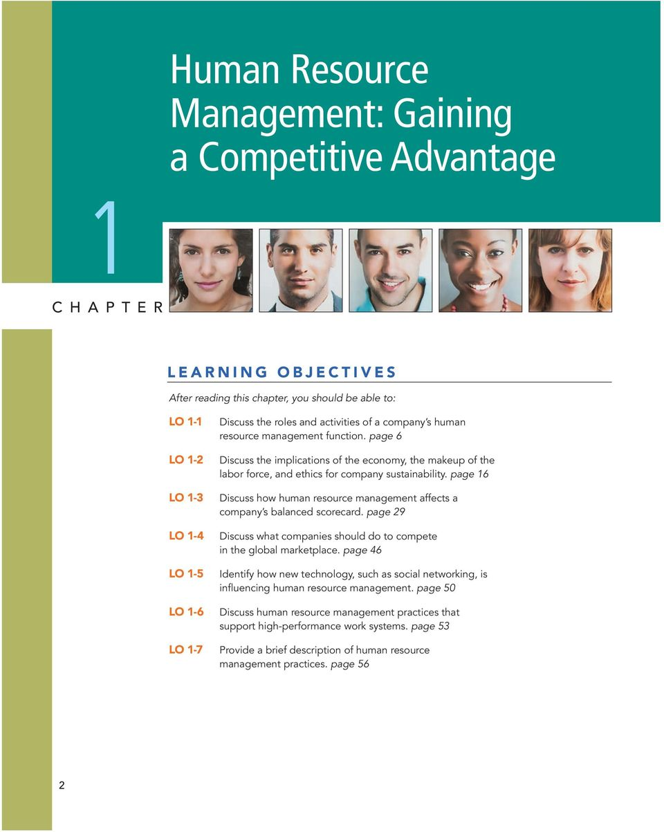 page 16 Discuss how human resource management affects a company s balanced scorecard. page 29 Discuss what companies should do to compete in the global marketplace.