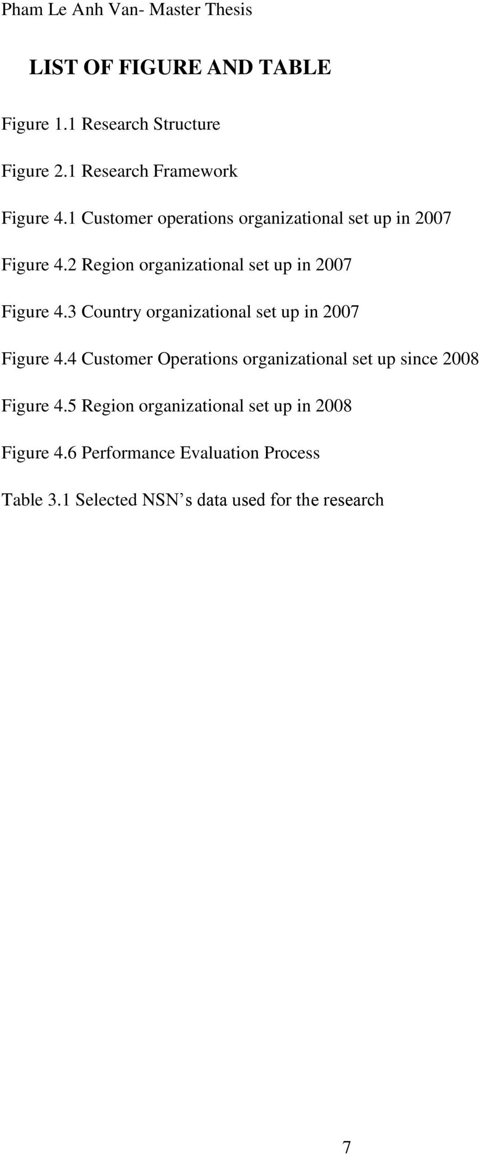 3 Country organizational set up in 2007 Figure 4.4 Customer Operations organizational set up since 2008 Figure 4.