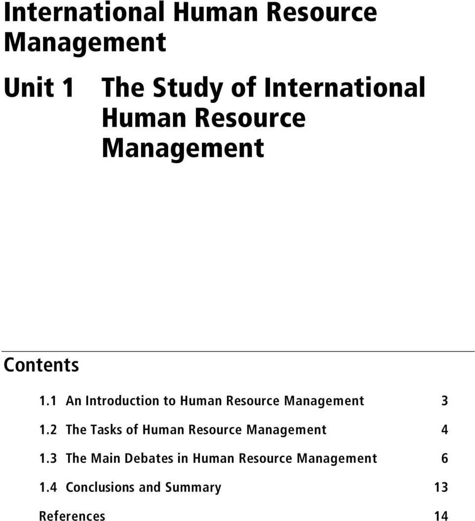 1 An Introduction to Human Resource Management 3 1.