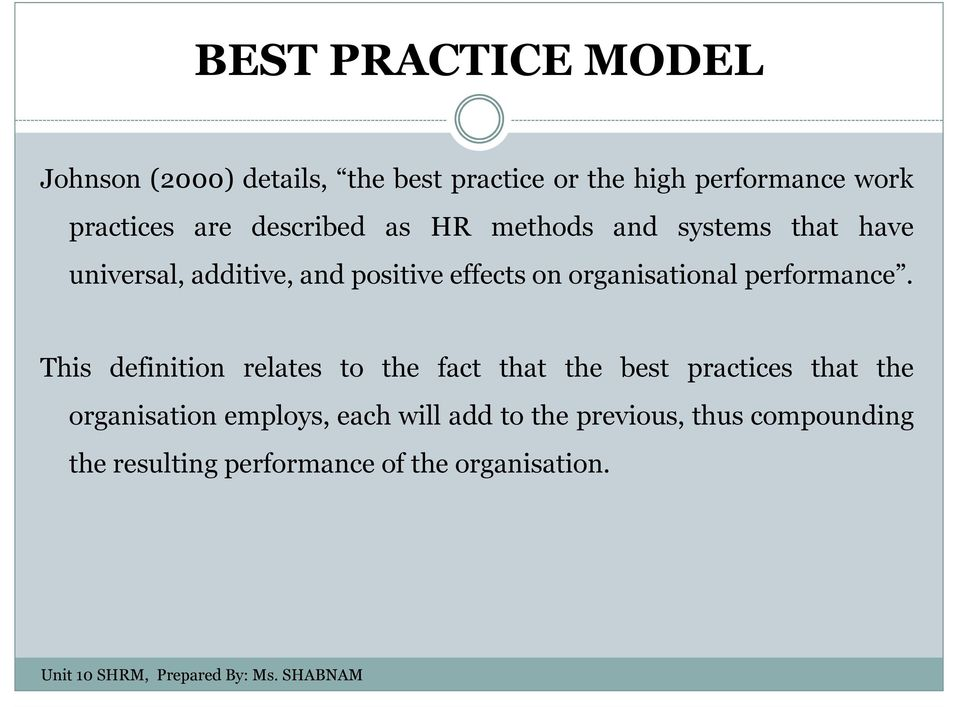 organisational performance.