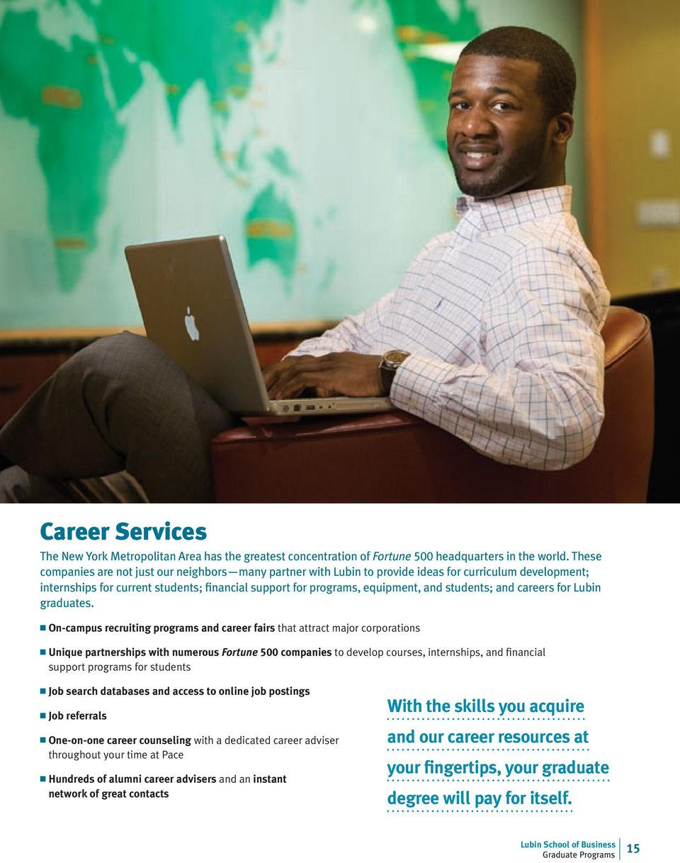 students; and careers for Lubin graduates.