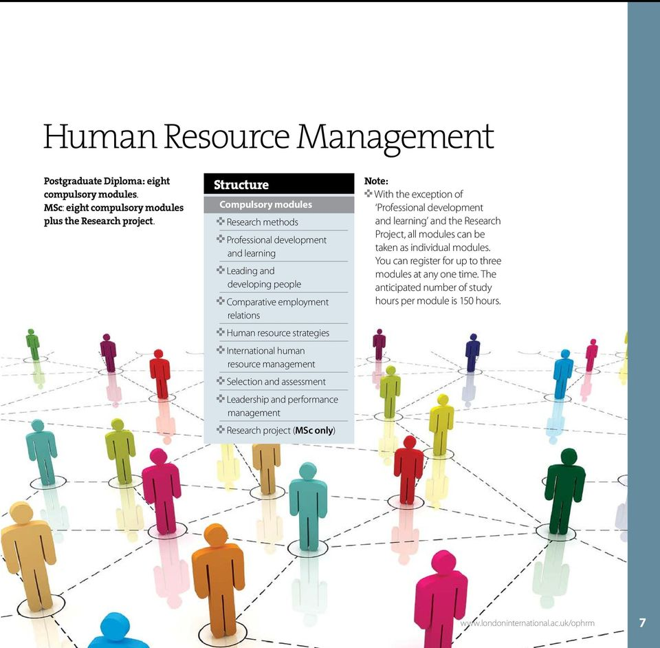 International human resource management < Selection and assessment < Leadership and performance management < Research project (MSc only) Note: < With the exception of Professional