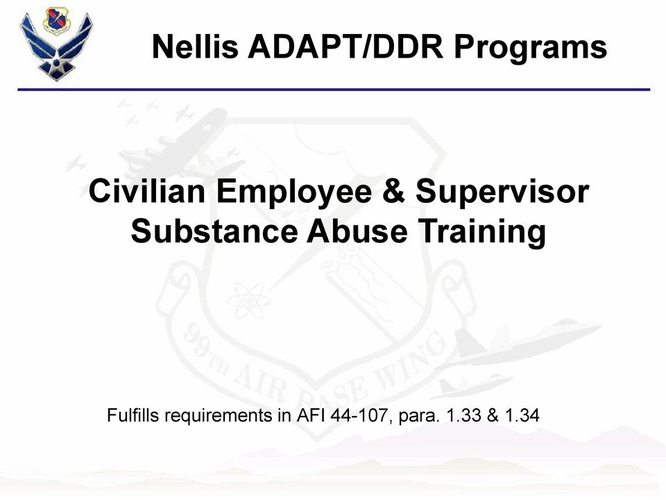 Substance Abuse Training Fulfills