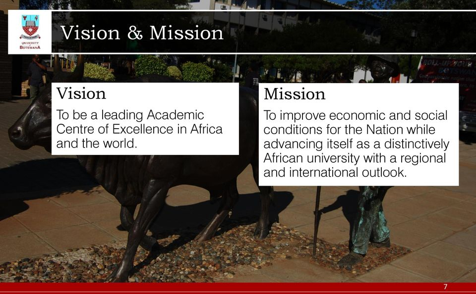 Mission To improve economic and social conditions for the Nation