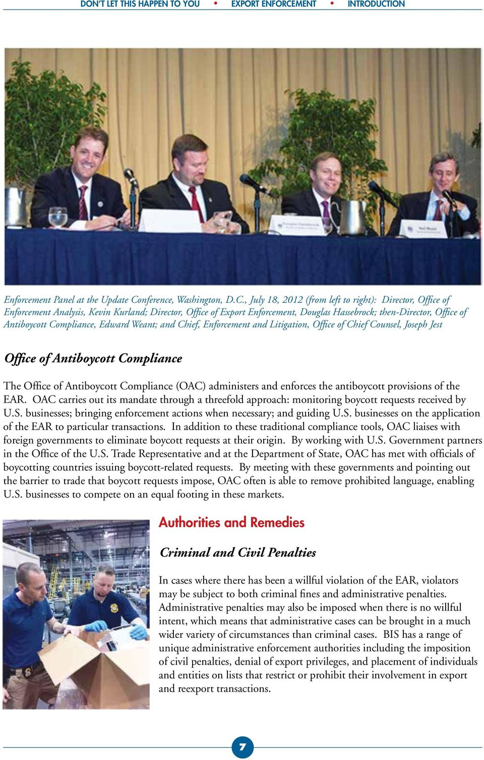 ION Enforcement Panel at the Update Co