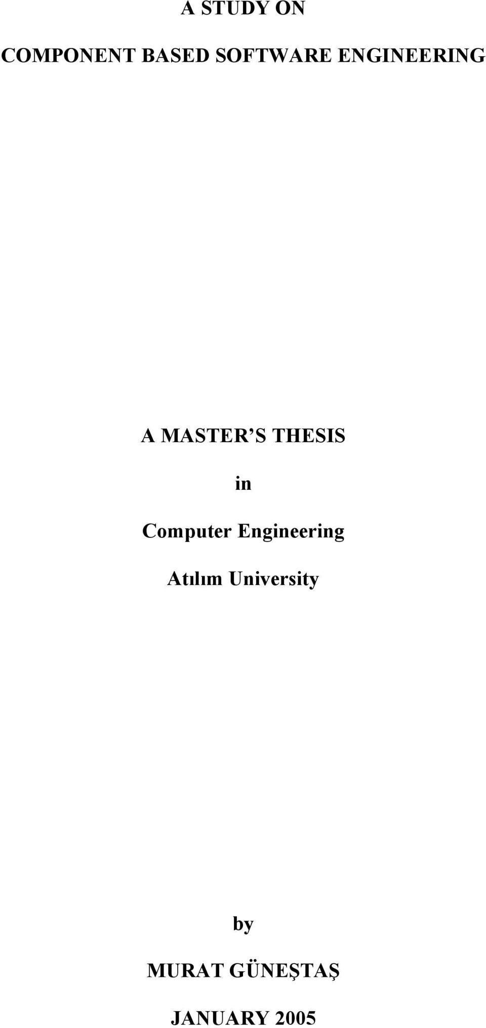 THESIS in Computer Engineering