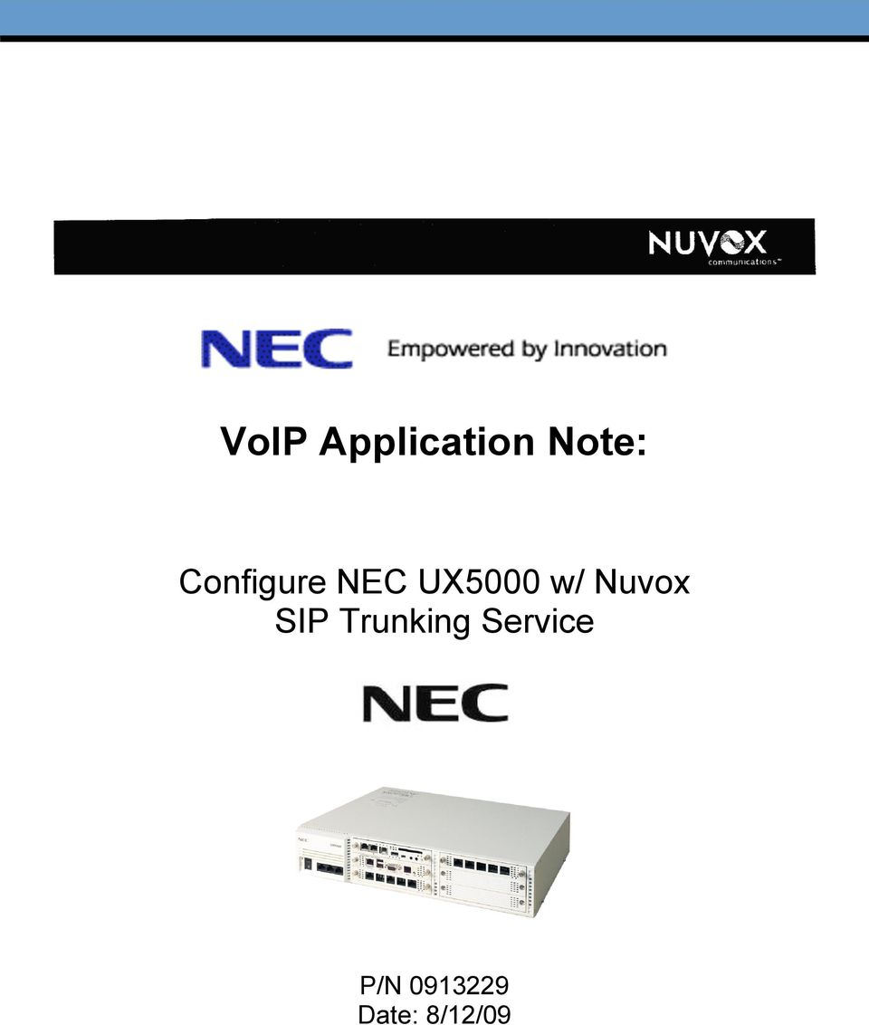 Nuvox SIP Trunking