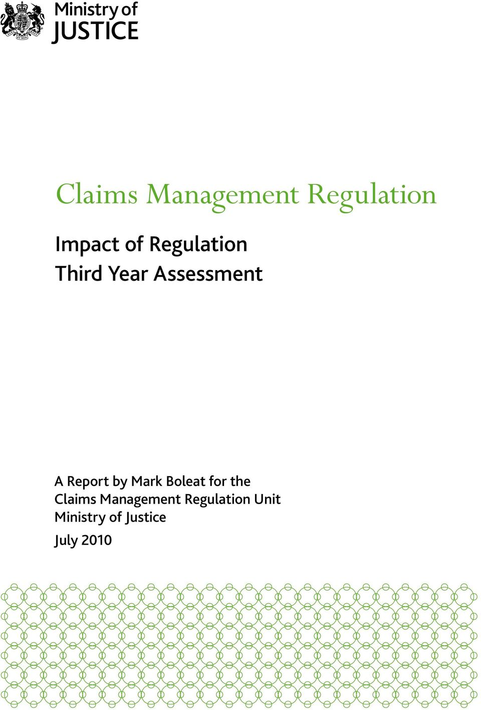by Mark Boleat for the Claims Management