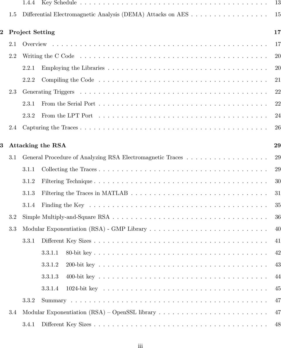 3 Generating Triggers......................................... 22 2.3.1 From the Serial Port..................................... 22 2.3.2 From the LPT Port..................................... 24 2.