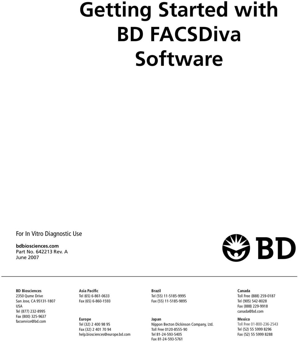 FCS Express: Importing BD FACSDiVa™ Data - De Novo Software