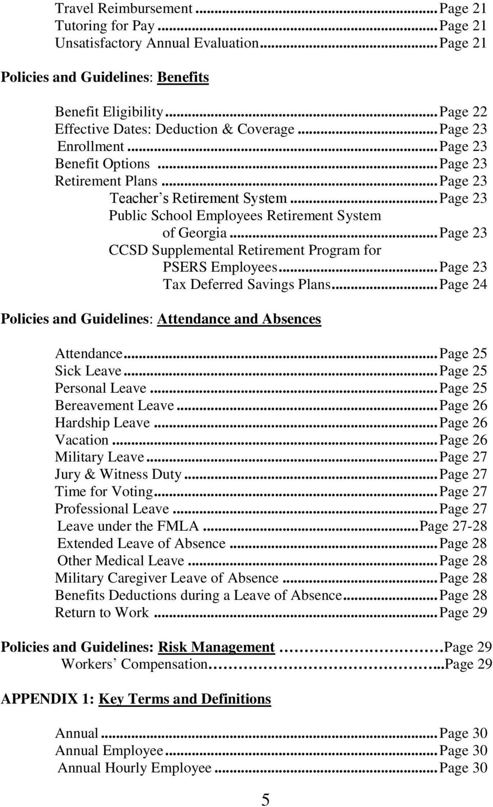 cobb county school district employee handbook pdf page 23 public school employees retirement system of page 23