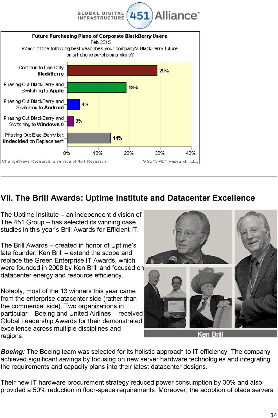 The Brill Awards created in honor of Uptime s late founder, Ken Brill extend the scope and replace the Green Enterprise IT Awards, which were founded in 2008 by Ken Brill and focused on datacenter
