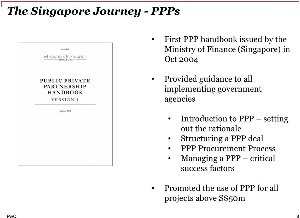 Introduction to PPP setting out the rationale Structuring a PPP deal PPP Procurement