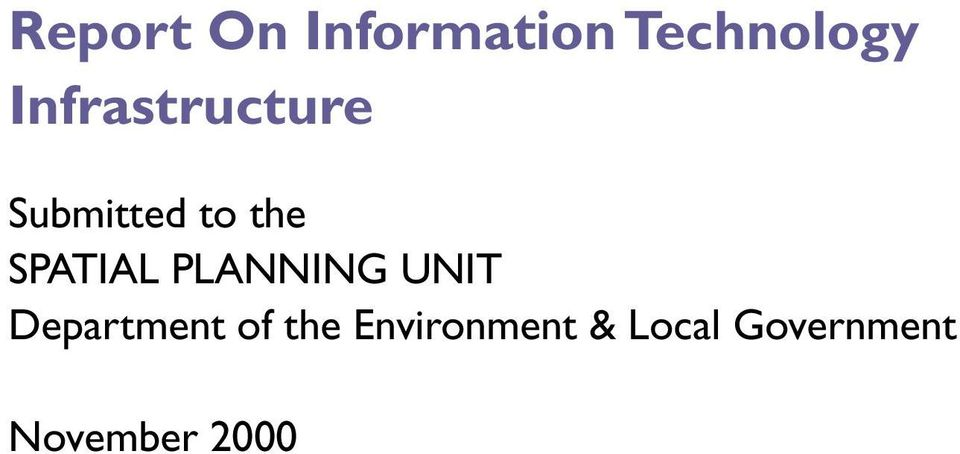 SPATIAL PLANNING UNIT Department of