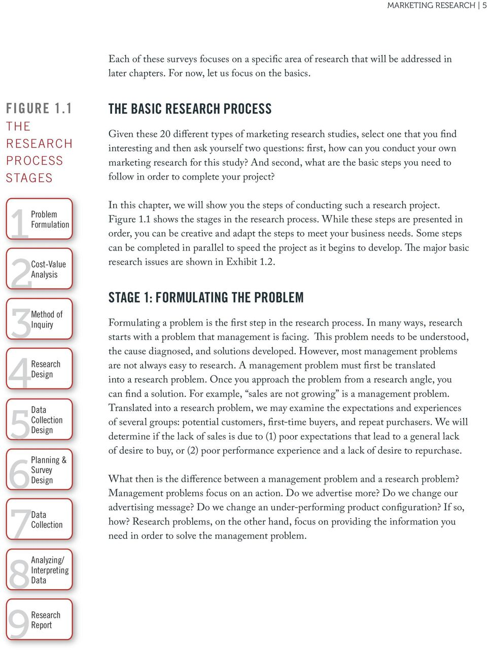 PROCESS Given these 20 different types of marketing research studies, select one that you find interesting and then ask yourself two questions: first, how can you conduct your own marketing research