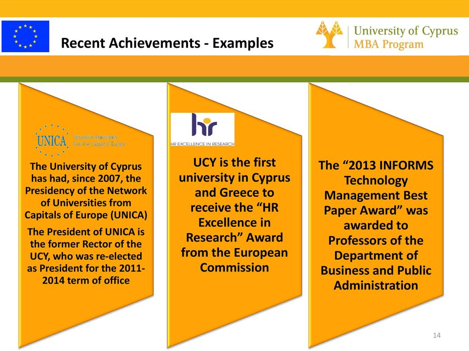 term of office UCY is the first university in Cyprus and Greece to receive the HR Excellence in Research Award from the European