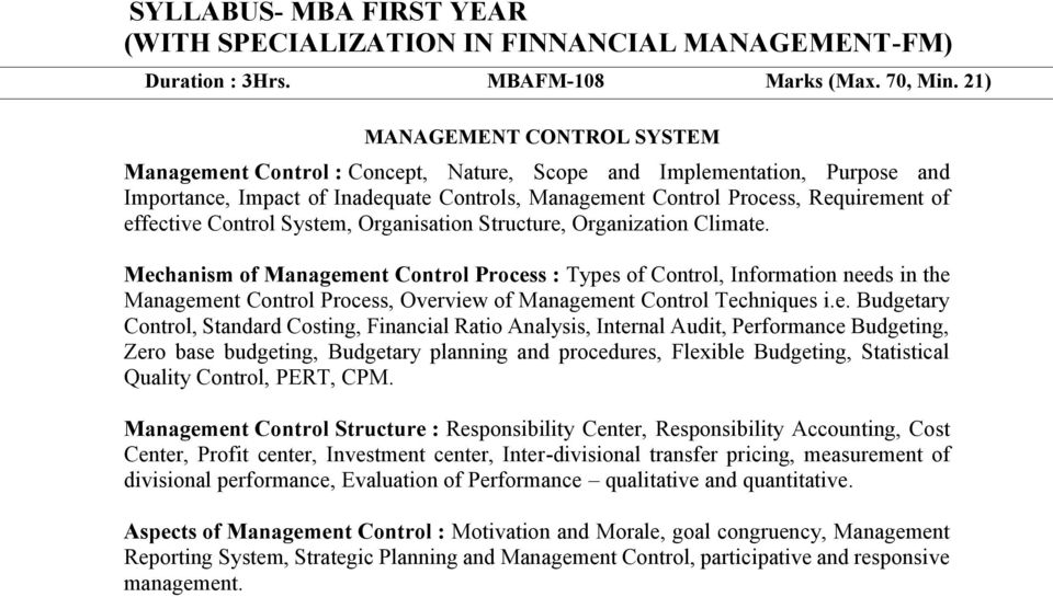 effective Control System, Organisation Structure, Organization Climate.