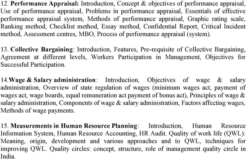performance appraisal (system). 13.