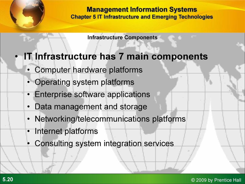 applications Data management and storage Networking/telecommunications