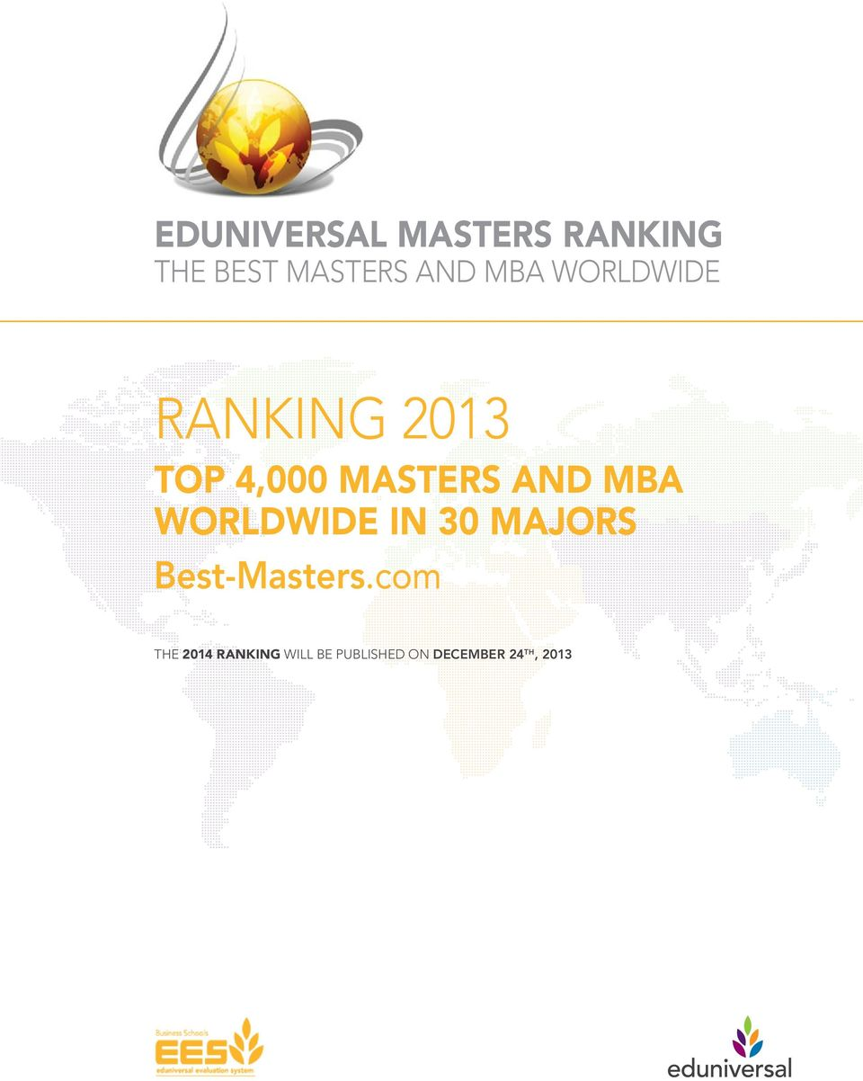 MBA worldwide in 30 majors -.