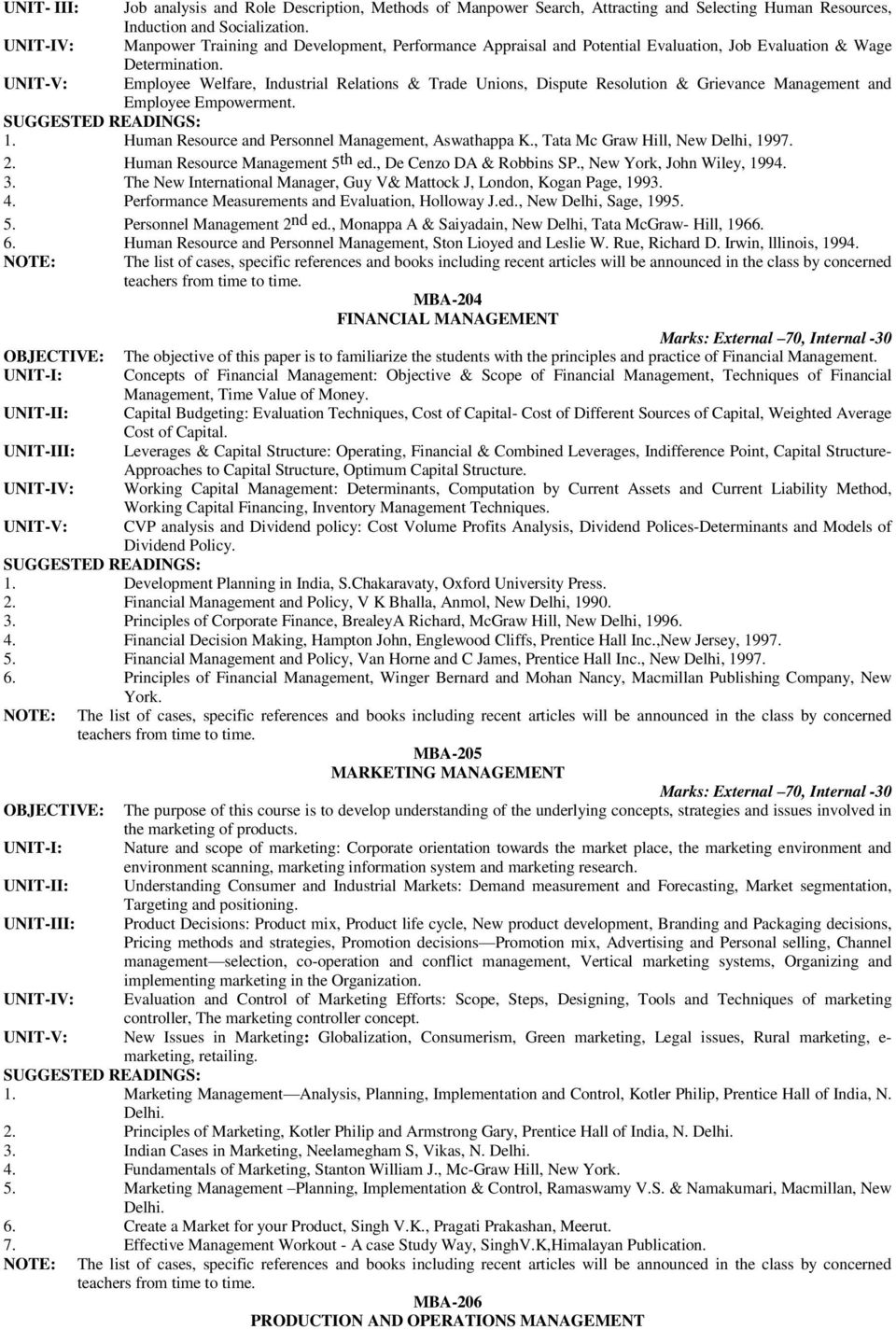Employee Welfare, Industrial Relations & Trade Unions, Dispute Resolution & Grievance Management and Employee Empowerment. 1. Human Resource and Personnel Management, Aswathappa K.