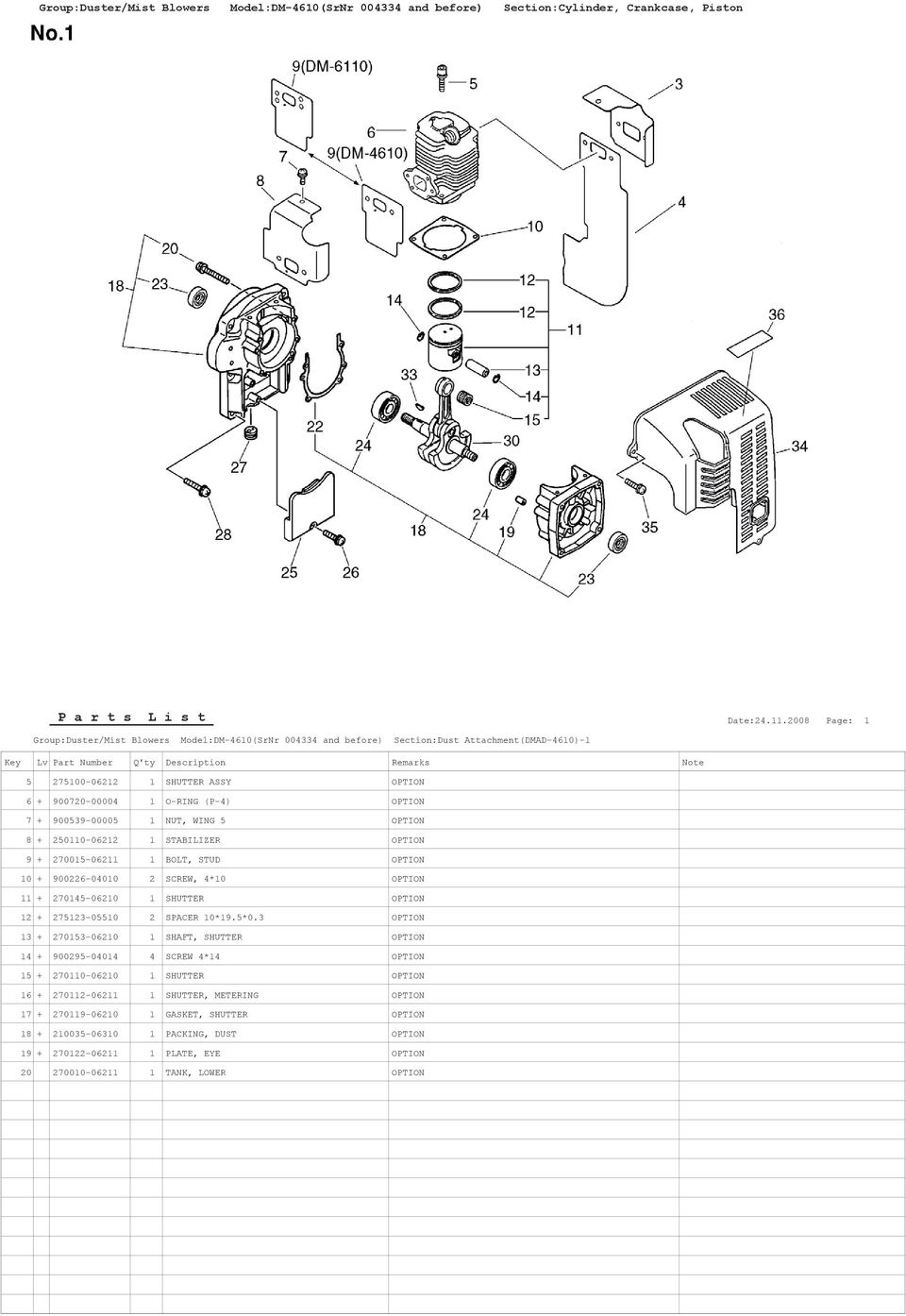 STUD OPTION 10 + 900226-04010 2 SCREW, 4*10 OPTION 11 + 270145-06210 1 SHUTTER OPTION 12 + 275123-05510 2 SPACER 10*19.5*0.