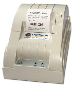 View all codes display When the code is sent to the printer the code is printer in receipt format.