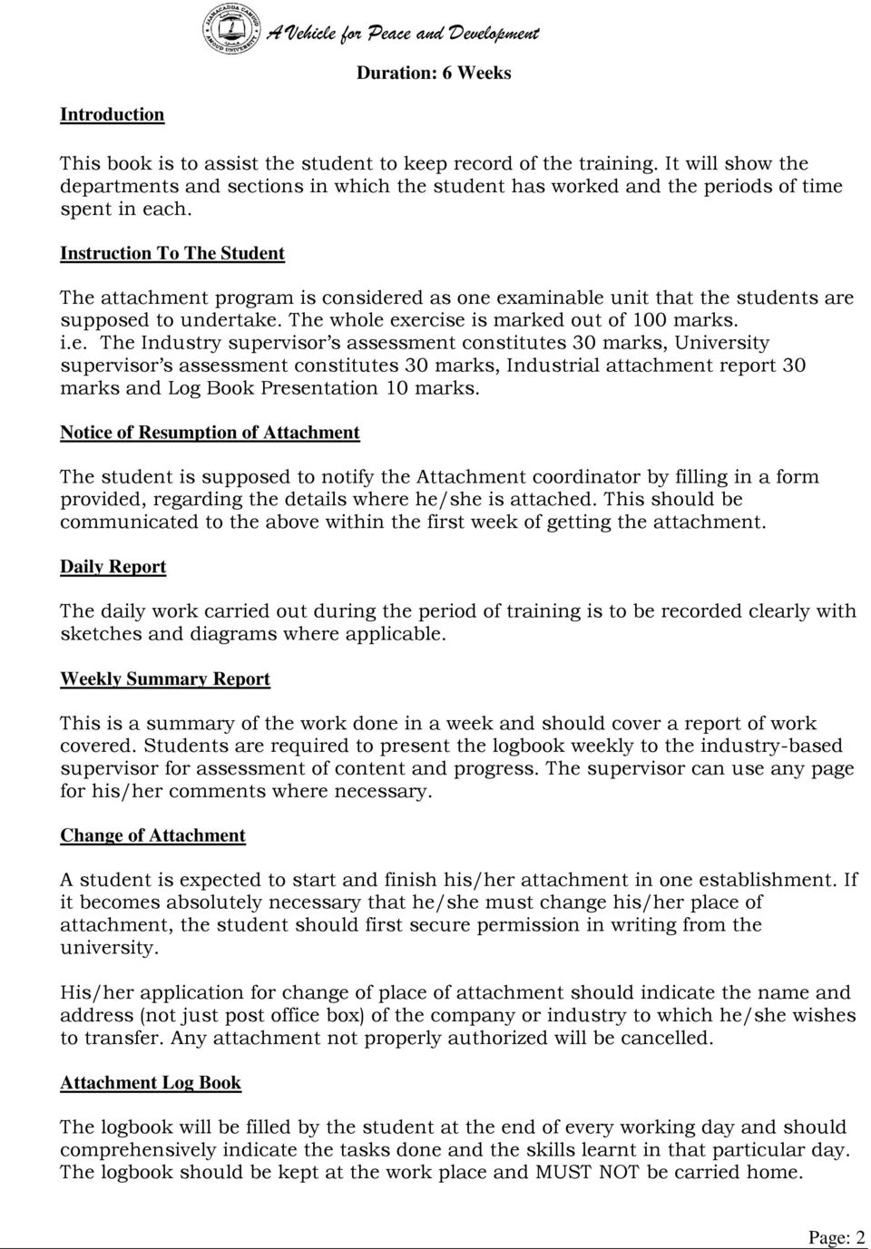 application letter for an industrial attachment Itap - industrial training attachment portal is a web portal designed to link  students to the industry through nita (national industrial training.