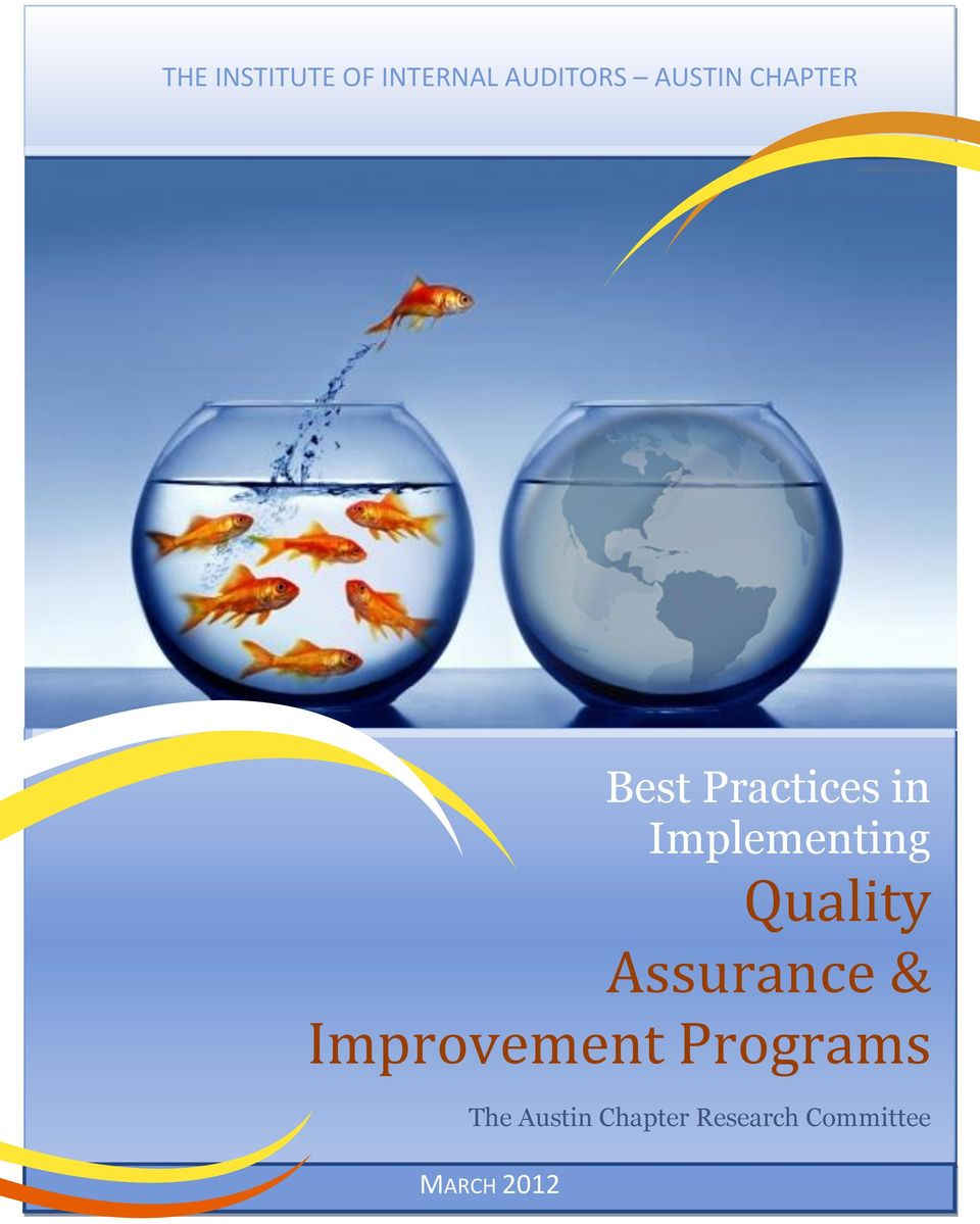 Best Practices in Implementing Quality Assurance ...