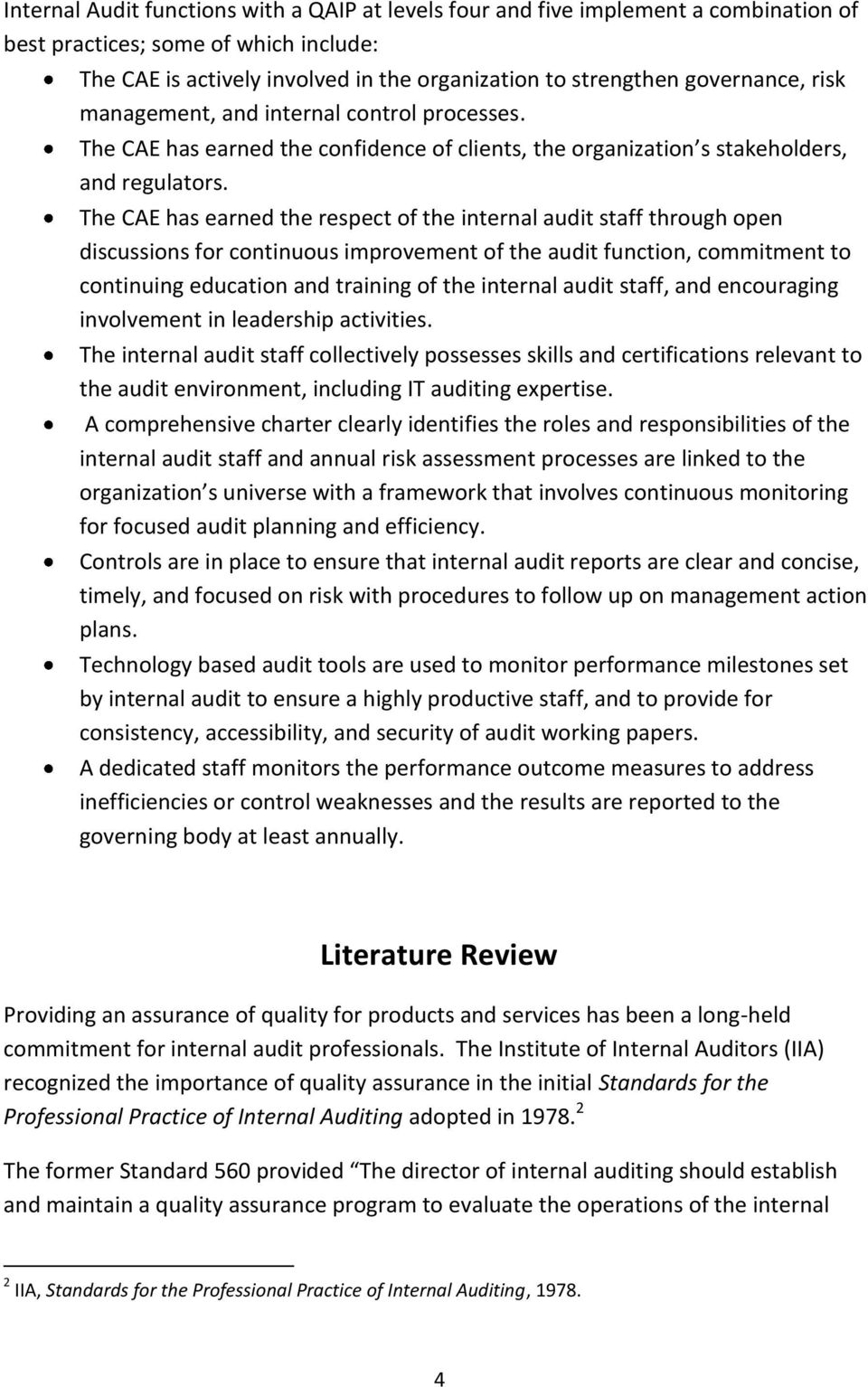 literature review on internal audit
