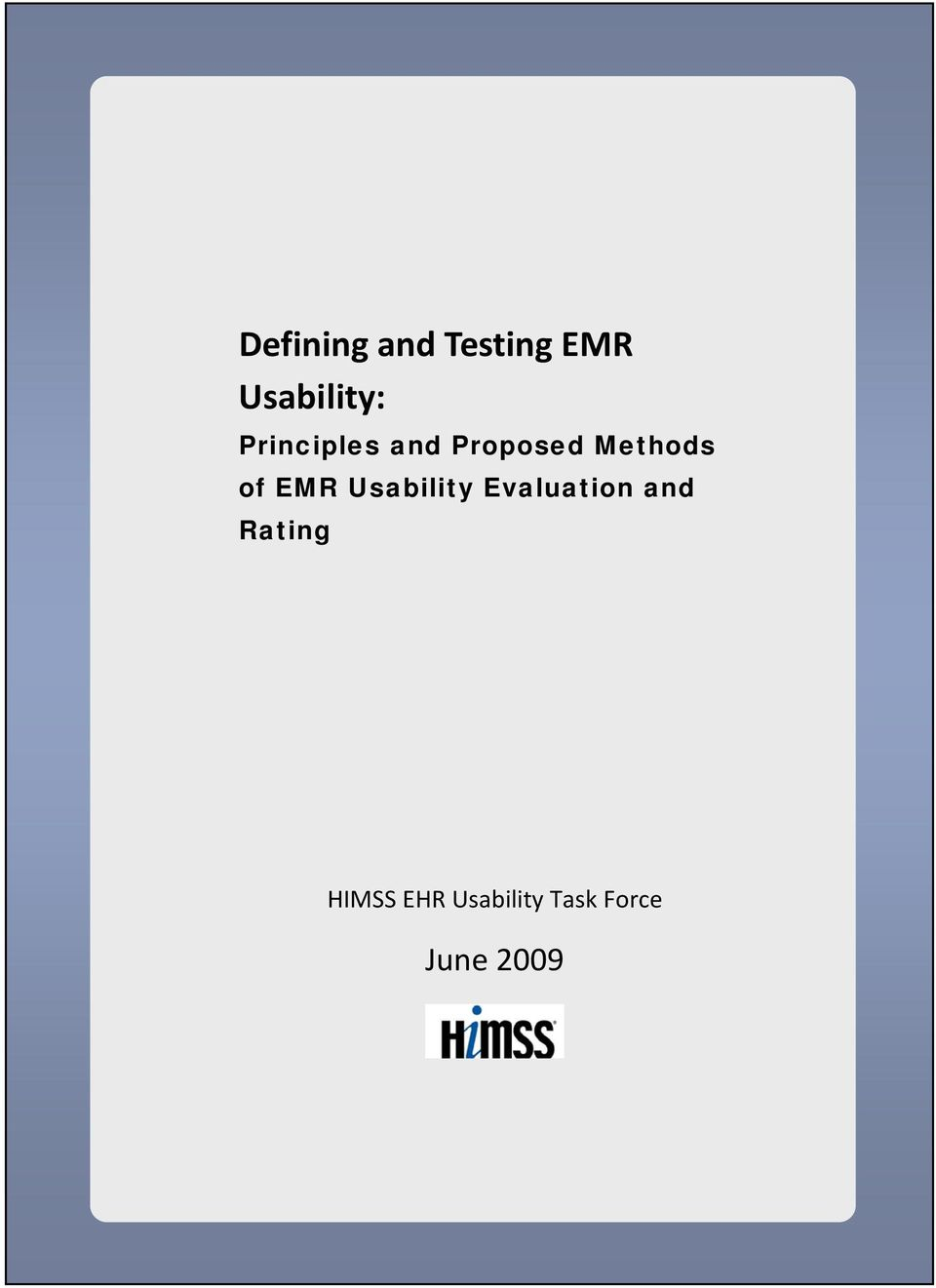 EMR Usability Evaluation and Rating